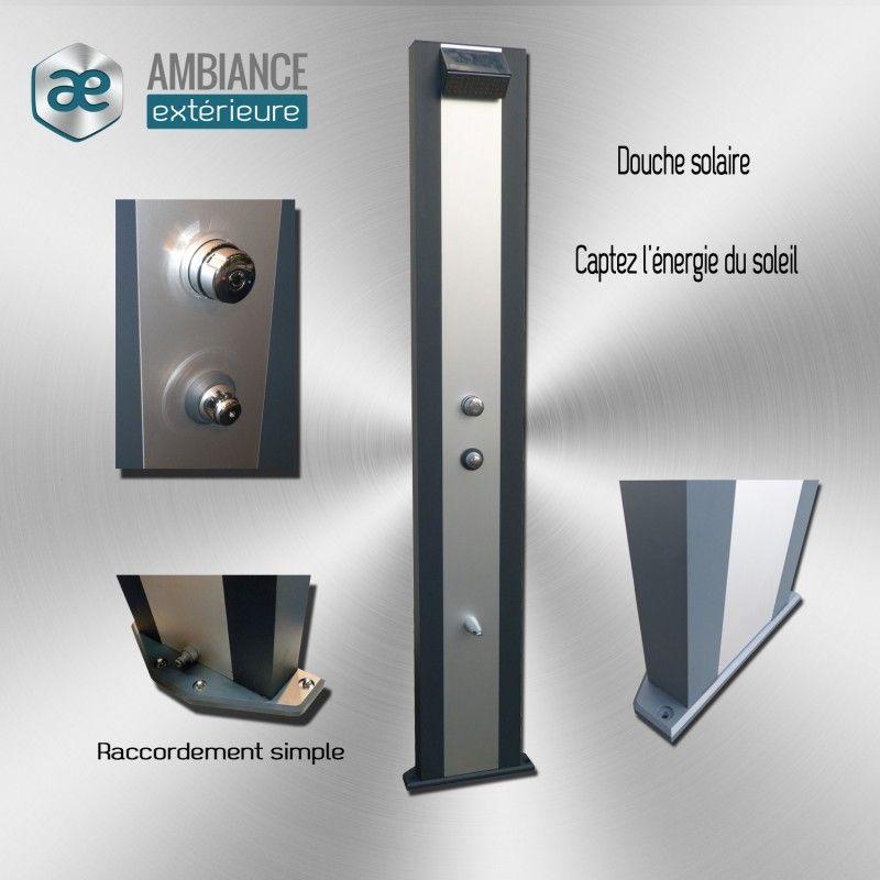 douche solaire aluminium design qualit performance. Black Bedroom Furniture Sets. Home Design Ideas