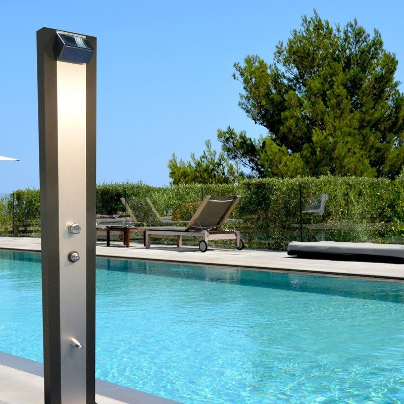 douche solaire aluminium design qualit performance collectivit