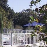 cloture piscine aluminium camping