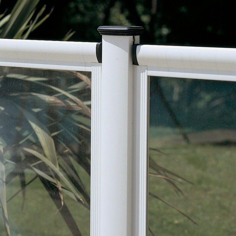 Barri re de piscine en aluminium et verre haut de gamme for Barriere de piscine amovible
