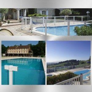 Barri re de piscine aluminium et verre ambiance ext rieure for Barriere piscine verre
