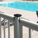 Poteau cloture piscine aluminium