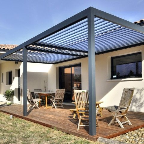 pergola aluminium protection solaire avec lames. Black Bedroom Furniture Sets. Home Design Ideas