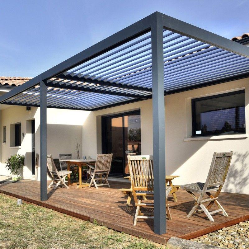 pergola bioclimatique aluminium lames orientables protection solaire. Black Bedroom Furniture Sets. Home Design Ideas