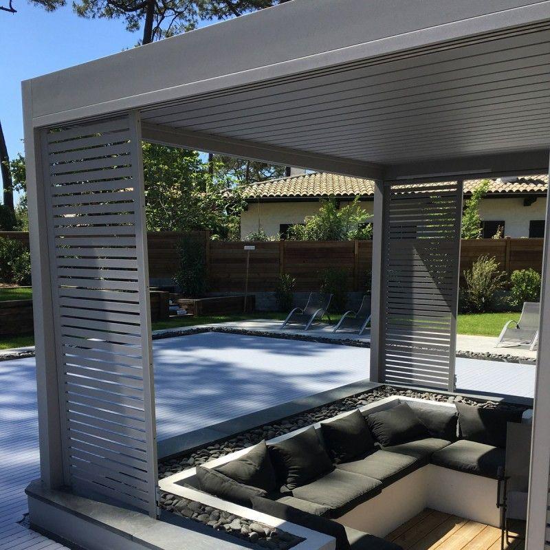 Pergola bioclimatique aluminium lames orientables protection solaire - Pergola aluminium lames orientables ...