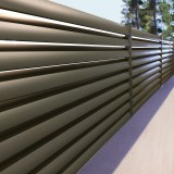 Clôture Aluminium lames inclinées