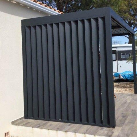 Panneau Aluminium A Lames Verticales Orientables Pour Pergola