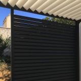 Panneau aluminium fixe pergola bioclimatique