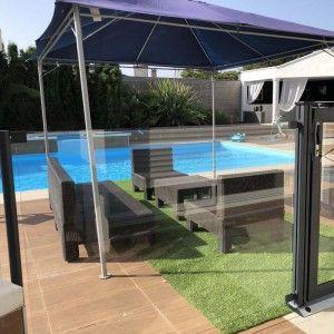 Barriere piscine verre