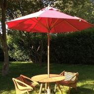 Parasol bois bambou