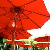 Parasol centré Bois haut de gamme