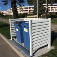 local poubelle extérieur aluminium blanc