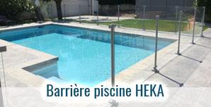 Barrière de piscine en verre trempé