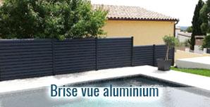 Brise vue fabriqué sur mesure en aluminium