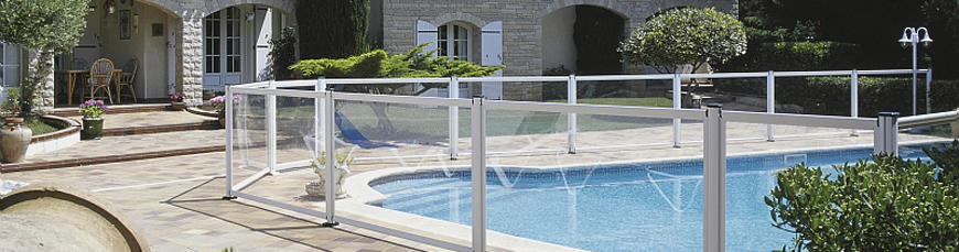 Barri re piscine aluminium verre haut de gamme qualit for Barriere piscine verre prix
