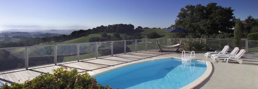 Barrière piscine verre