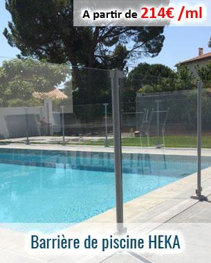 Barrière de piscine épurée et discrète en verre trempé