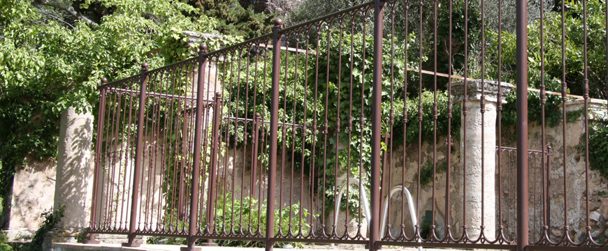 barriere piscine fer forgé