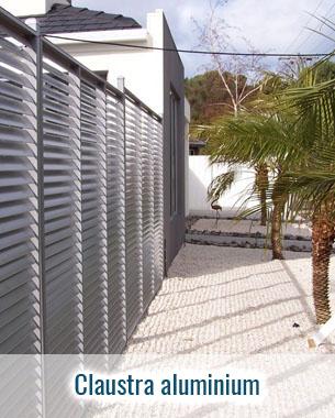 Claustra en aluminium sur mesure fabrication française