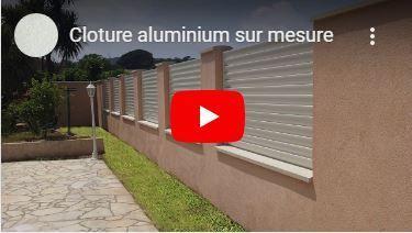 Quelques unes de nos plus belles réalisations de clôture aluminium sur mesure