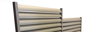 Cloture aluminium lame ovale avec dénivelé