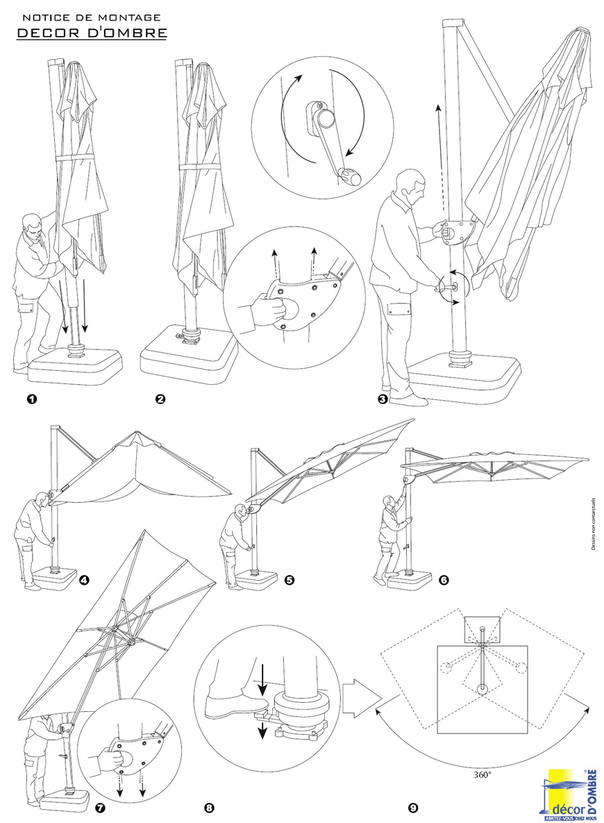 Notice parasol deporte decor dombre