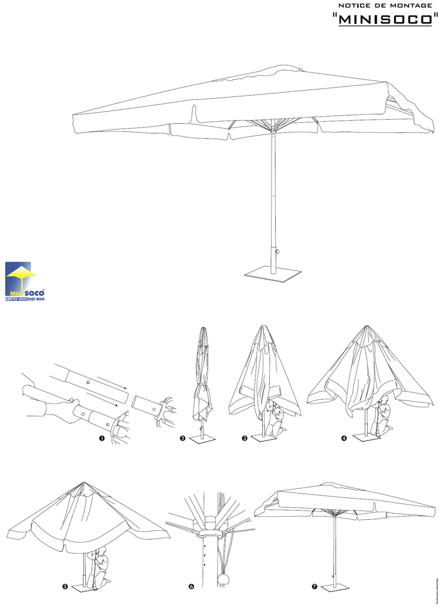 Notice parasol centré Minisoco