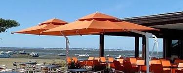 Parasol aluminium mât déporté Orchestra ou Sunbrella