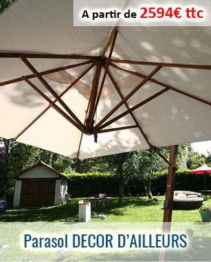 Parasol excentré à structure bambou pour une meilleur empreinte écologique
