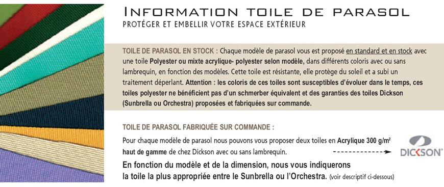 Toiles Standard parasol Maxisoco