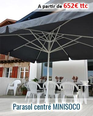 Parasol en aluminium centré haut de gamme MINISOCO