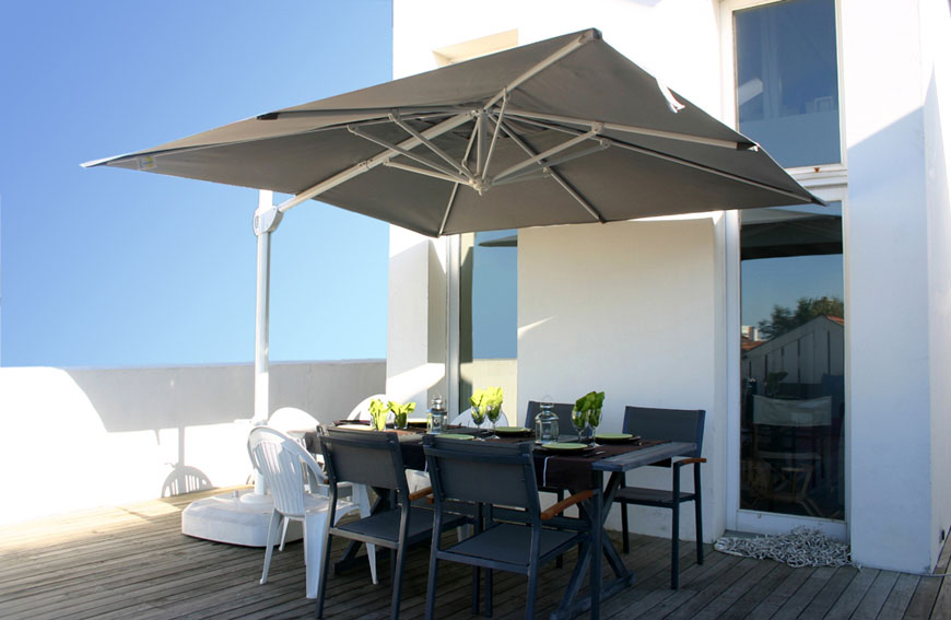 parasol aluminium centr d port haut de gamme. Black Bedroom Furniture Sets. Home Design Ideas