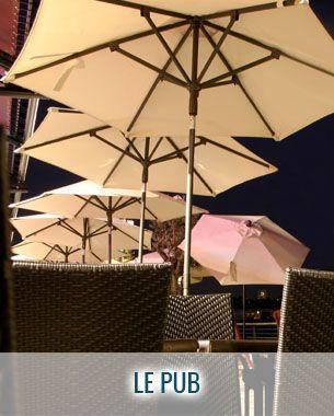 Parasol droit hexagonal Le Pub