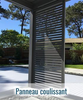 Panneaux coulissant aluminium pergola bioclimatique