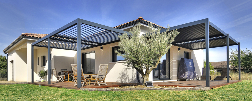 Pergola bioclimatique aluminium en kit