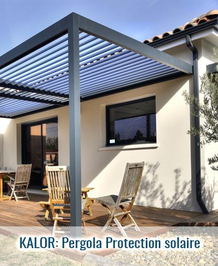 Pergola bioclimatique protection solaire seule
