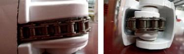 Articulation par chaine - Store exterieur motorise