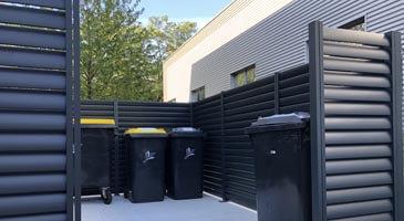 cache conteneurs aluminium design pour l'extérieur