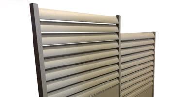 Cache conteneurs aluminium sur mesure